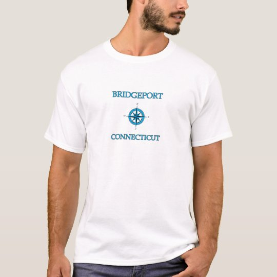 Bridgeport Connecticut Nautical Compass Rose T-Shirt