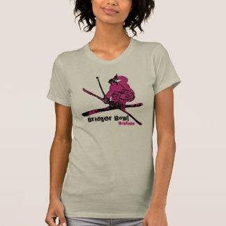 Bridger Bowl Montana ladies pink ski tee