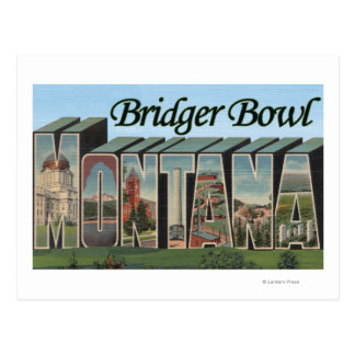 Bridger Bowl, Montana - Large Letter Scenes Postcard