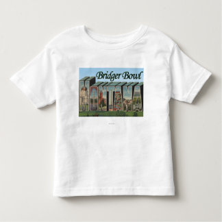 Bridger Bowl, Montana - Large Letter Scenes Toddler T-Shirt