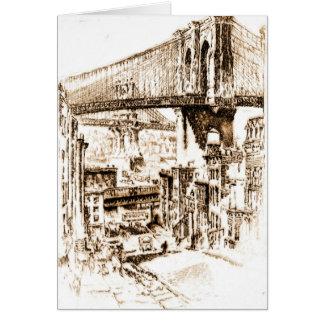 Bridges from Brooklyn 1921 Greeting Card