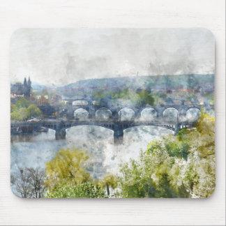 Bridges in Prague Czech Republic Mouse Pad