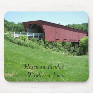 Bridges of Madison County Winterset, Iowa Mouse Pad
