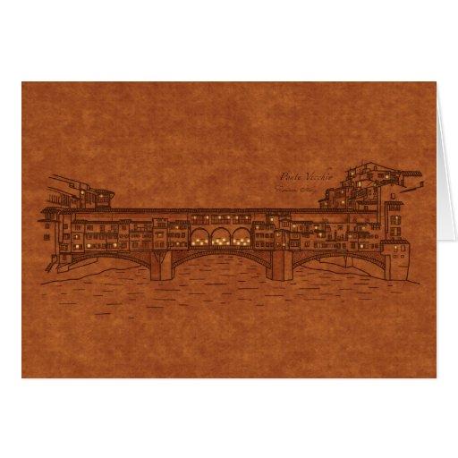 Bridges: Ponte Vecchio Greeting Card