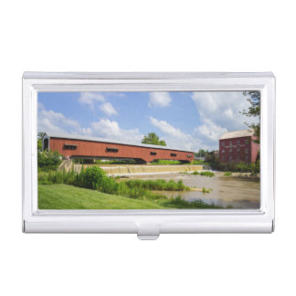 Bridgeton Bridge And Mill Business Card Holder