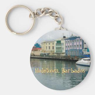 Bridgetown, Barbados Basic Round Button Key Ring