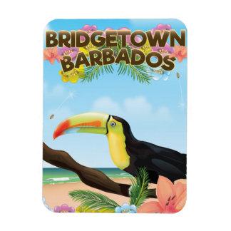 Bridgetown Barbados Toucan travel poster Magnet
