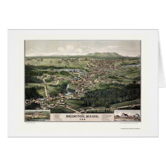 Bridgton, ME Panoramic Map - 1888 Card