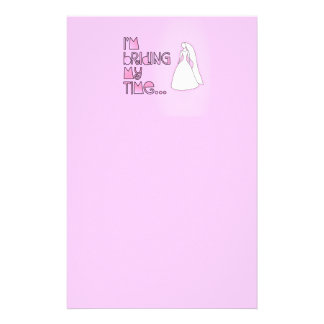 Briding My Time Personalised Stationery