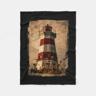 Brier Island Western Lighthouse Fleece Blanket
