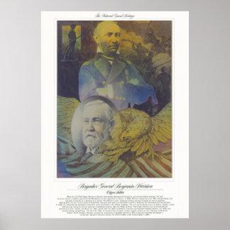 BRIG GENERAL BENJAMIN HARRISON Citizen Soldier Poster