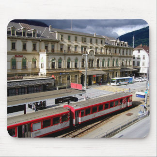 Brig station building mouse pad