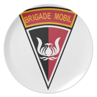 Brigade Mobil Indonesia Military Patch Party Plates