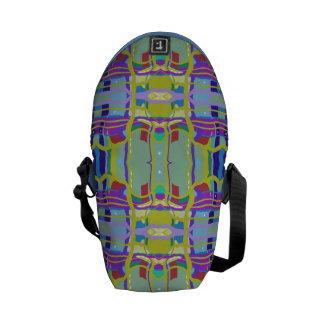 Brigadoon Multi-color Plaid Rickshaw Messenger Bag
