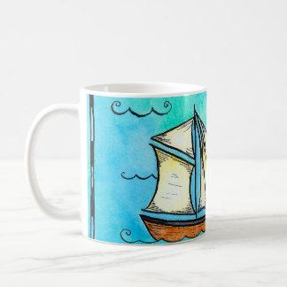Brigantine Pirate Sailing Ship Mug