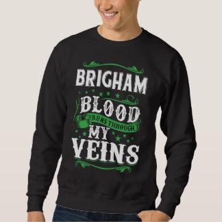 BRIGHAM Blood Runs Through My Veius. T-shirt