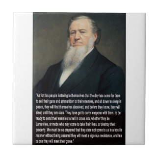 Brigham Young on Guns Tile