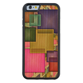 Bright 3-D Geometric Abstract Carved Cherry iPhone 6 Bumper Case