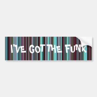Bright 60s Retro Stripes Bumper Stickers