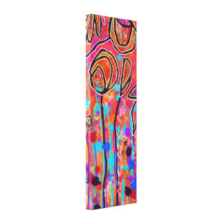 Bright Abstract Floral Canvas Print 12x36