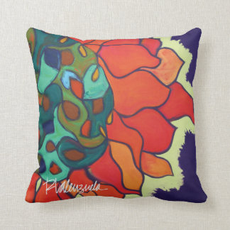 Bright Abstract Floral Pillow