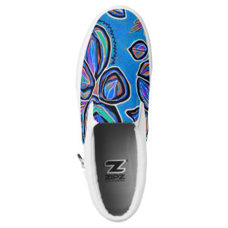 Bright Abstract Floral Shoes Printed Shoes