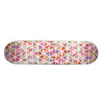 Bright Abstract Floral Triangles Pastel Pattern