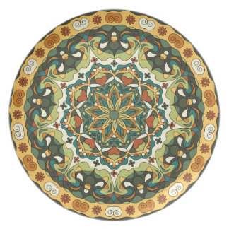 Bright abstract pattern Melamine Plate