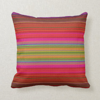 Bright Abstract Stripe American Mojo Pillow