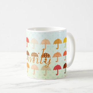 Bright Add Name Digital Umbrellas Pattern Mug