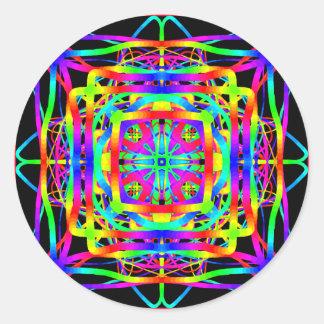 bright and bold round sticker
