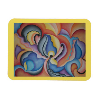 Bright and Bold Whimsical Shapes Kitchen magnet