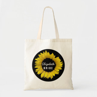 Bright and Cheerful Yellow Sunflower Wedding A09A Budget Tote Bag