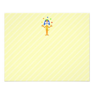 Bright and Colorful Cartoon Dog Juggling. 11.5 Cm X 14 Cm Flyer