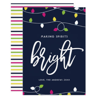 Bright and Colorful Christmas Lights Holiday Card