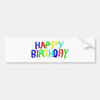 Bright and Colorful. Happy Birthday. Bumper Sticker