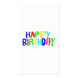 Bright and Colorful. Happy Birthday. Pack Of Standard Business Cards