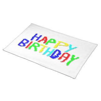 Bright and Colorful. Happy Birthday. Place Mats