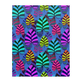 Bright and Colorful Leaf Pattern 767 Acrylic Print