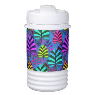 Bright and Colorful Leaf Pattern 767 Drinks Cooler