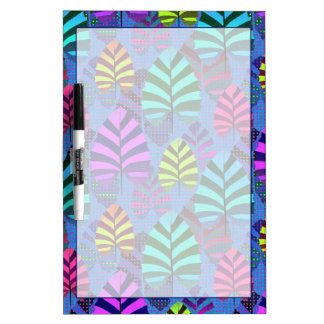 Bright and Colorful Leaf Pattern 767 Dry-Erase Board