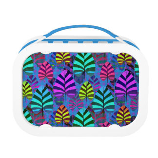 Bright and Colorful Leaf Pattern 767 Lunch Boxes