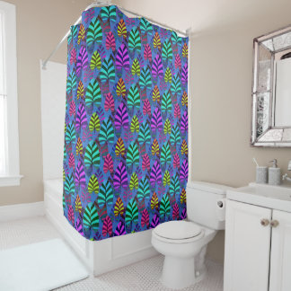 Bright and Colorful Leaf Pattern 767 Shower Curtain