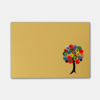 Bright and Colorful Mechanical Gear Tree Post-it® Notes