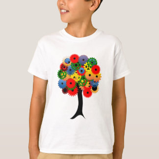 Bright and Colorful Mechanical Gear Tree T-Shirt