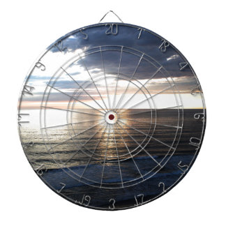 Bright and Colorful Sunset Dartboard