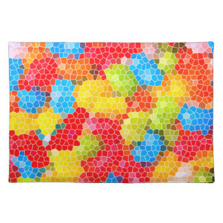 Bright and Colorful Unique Abstract Pattern Placemat