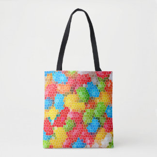 Bright and Colorful Unique Abstract Pattern Tote Bag