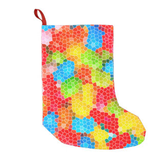 Bright and Colorful Unique Pattern Small Christmas Stocking