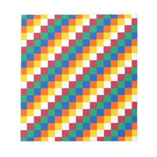 Bright and Distinctive Squares Pattern Notepad
